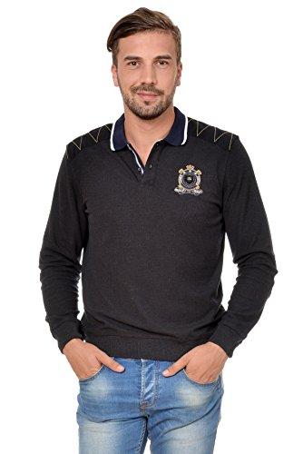 Sweat Maglietta T-Shirt Polo Felpa manica lunga per uomo di M.Conte Orsson Anthracite XL