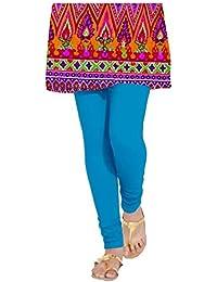Meraj Saya Women's Blue Cotton Lycra Legging