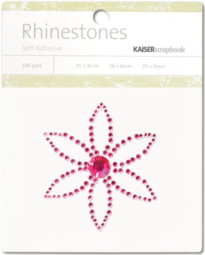 Kaisercraft Self-adhesive Rhinestones-petal-hot Pink 6 Pack