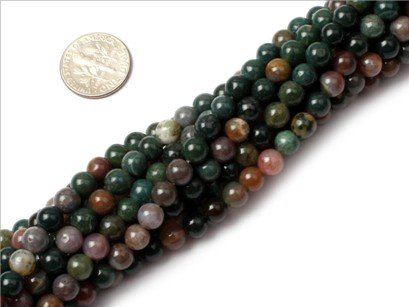 4mm Round Gemstone indian agate beads strand 15