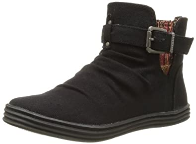 Blowfish Malibu Womens Reda Boots 3904 Black Oz Canvas 3 UK, 36 EU