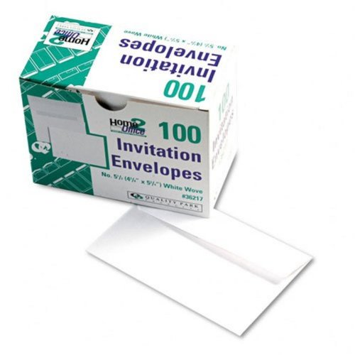 Quality Park Invitation #5.5 WHITE Envelopes, 4 3/8 x 5 3/4 (*20 packs of 100*) with BONUS Bubble Envelope!