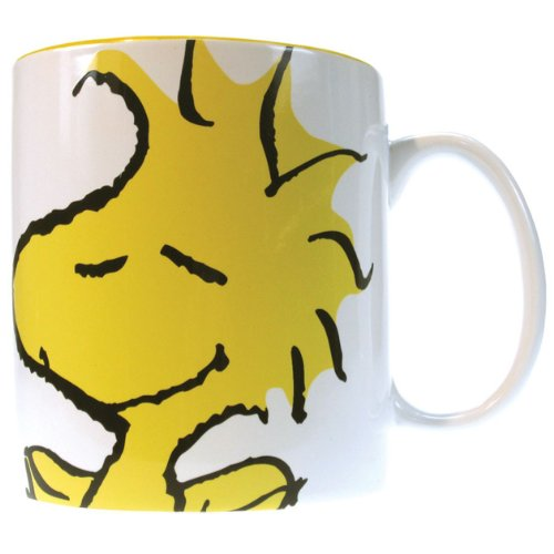 Westland Giftware 4-Inch Peanuts Woodstock Face Stoneware Mug, 14-Ounce