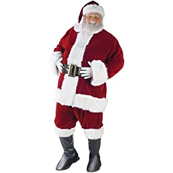 Fun World Mens Ultra Velvet Santa Suit Costume