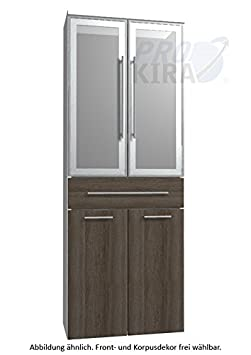 Simple Classic Line Tall Cupboard (HNA05 6B7 W) Bathroom, 60 cm
