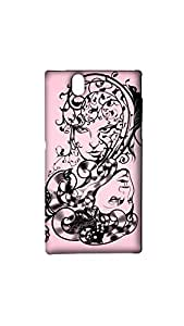 Vector Abstract Portraits Of Two Girls Mobile Back Case/Cover For Sony Xperia Z
