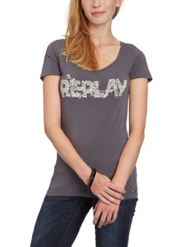 Replay  Women's W3385 .000.20399 T-Shirt Grey (Dark Grey 294) 34