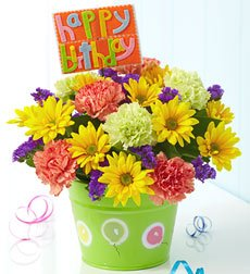 Flowers by 1800Flowers - Bucket of Birthday Wishes