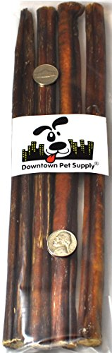 12 BULLY STICKS - Regular Select Thick - Dog Chew Treats, 12 inch, by Downtown Pet Supply pet attire sparkles dog collar 8 12in pink