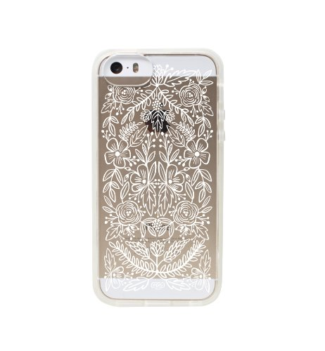 Transparent Floral Lace Slim Cell Phone Cover for iPhone 5/5s by Rifle Paper Co. (Rifle Paper Co Iphone 5 Case compare prices)