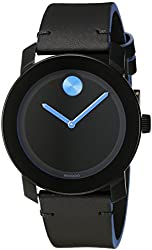 Movado Men's 3600350 Stainless Steel Watch with Black Band