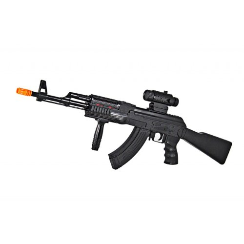 Toy Ak 47 http://www.topdealon.com/Reviews/1-1-Scale-Realistic-Looking-Toy-AK-47-Machine-Gun-Toy-Guns-For-Kids-with-Firing-Sounds,-Lights-and-Vibrations.html