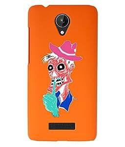 KolorEdge Back Cover For Micromax Canvas Spark Q380 - Orange (1522-Ke15125MmxQ380Orange3D)