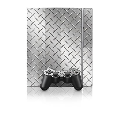 Diamond Plate Design Protector Skin Decal Sticker for PS3 Playstation 3 Body Console