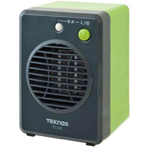 TEKNOS モバイルセラミックヒーター グリーン TS-310