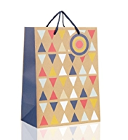 Geometric Design Large Gift Bag