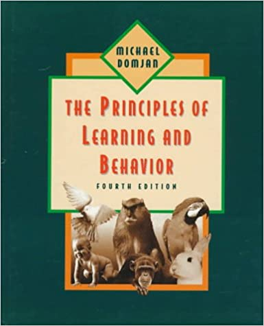 Principles of learning and behavior: 4th Edition