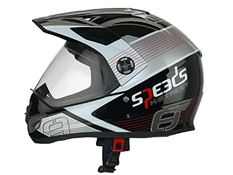 Casque Speeds Cross X-Street Graphic rouge taille L
