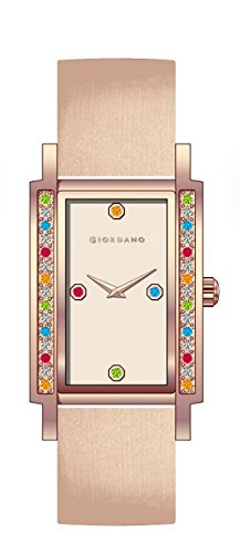 Giordano Analog Rose Gold Dial Women's Watch - A2013-05 (yellow)