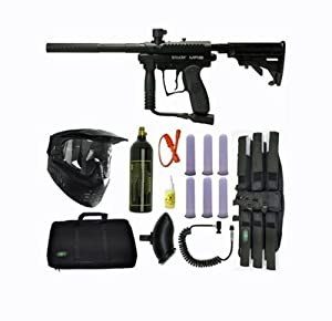 Spyder MR1 Tactical Paintball Marker Gun SNIPER SET-Black