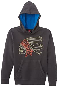 Quiksilver Rib Youth A4 Screenline Sweat-shirt Garçon Dark Charcoal FR : 14 ans (Taille Fabricant : L/14)
