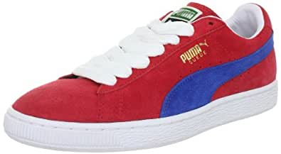 Puma Suede Classic+ 352634, Herren Sportive Sneakers, Rot (ribbon red-puma royal 51), EU 36 (UK 3.5) (US 4.5)