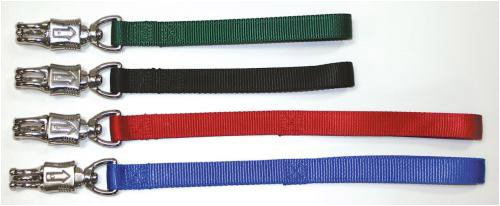 Double Ply Nylon Traffic Leads - With Panic Snap Green 12
