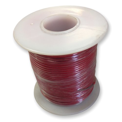frey-scientific-581181-solid-conductor-pvc-coated-hookup-wire-20-gauge-100-length-red