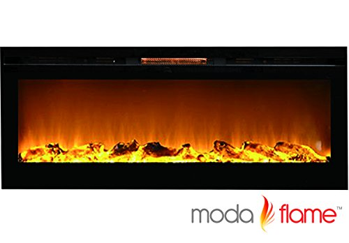 "Great Features Of Moda Flame 60"" Cynergy XL Log Built-In Wall Mounted Electric Fireplace"