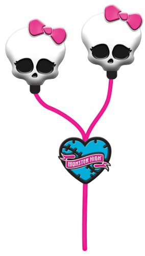 Monster High Skull Earbuds - Pink (11348) - 1