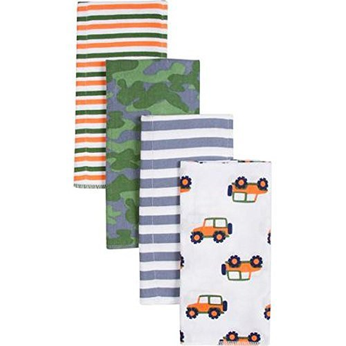 Gerber Boy Print Prefold Diaper Burp Cloths - 4 Count - 1