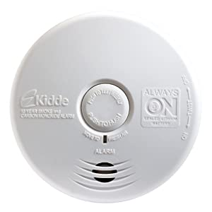 Kidde P3010K-CO Worry-Free Kitchen Photoelectric Smoke and Carbon Monoxide Alarm with 10 Year Sealed Battery