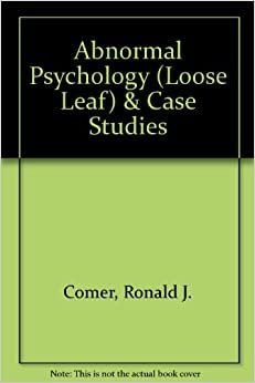 abnormal psychology case studies book Find great deals on ebay for psychology case studies new listing case studies in abnormal psychology by ronald j comer and paperback book brand new $6885.