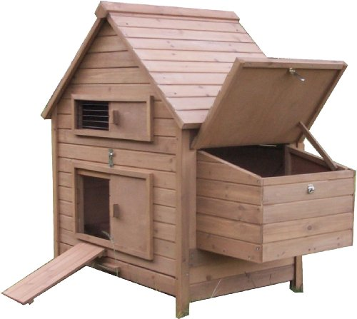 Wooden Hen House Chicken Coop Nesting Box Poultry Ark Home Rabbit Guinea Pig Hutch