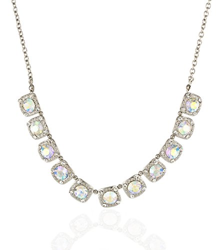 Inpink Fashion Jewelry Putting On The Glitz Necklace And Earrings Set In Aurora And Silver Tone