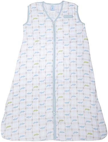 Halo Sleep Sack Wearable Cotton Muslin Blanket, Gator Plaid, X-Large