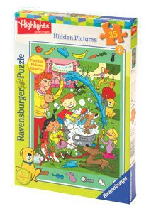 Ravensburger Hidden Pictures Puzzle DOG WASH 35 Pieces Puzzle - 1