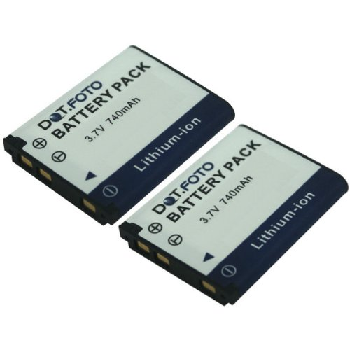 2 x Dot.Foto Qualitätsakku für Maginon DS5370 | 02491-0066-00 - 3,7v / 740mAh - Garantie 2 Jahre - Maginon Slimline X60 | XS 60 | XS 70 / Maginon Super Slim XS 80