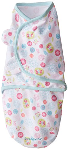 Summer Infant Summer Infant SwaddleMe Adjustable Infant Wrap, Apple Blossom, Small/Medium