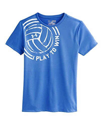 Under Armour Big Girls' Ua Play To Win T-Shirt Youth Small Water front-1028940