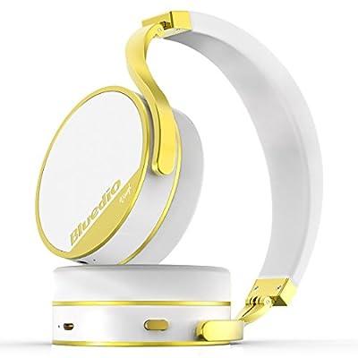 Bluedio Vinyl Plus Light Extravagance Wireless Bluetooth Headphones(White)