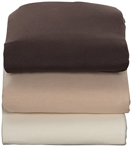 Kidsline Cradle Jersey Knit Fitted Sheet, Chocolate