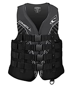 O'Neill Wetsuits Wake Waterski Mens Superlite USCG Life Vest, Black/Black/Smoke/White, X-Large