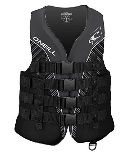 ONEILL Wetsuits Superlite CE Vest Buoyancy Aid 50N, Unisex, Superlite 50N CE Vest, Black/Smoke White, XL