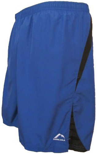 Mens More Mile 7 inch ZORBO baggy running shorts in Royal Blue