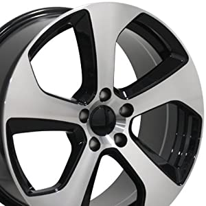 18″ Fits Volkswagen – GTI Style Replica Wheels – Black Machined Face 18×8 SET