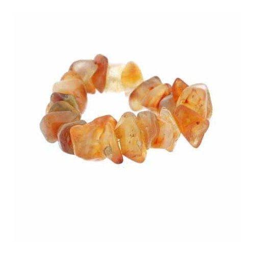 Genuine Carnelian Chip Stretch Ring