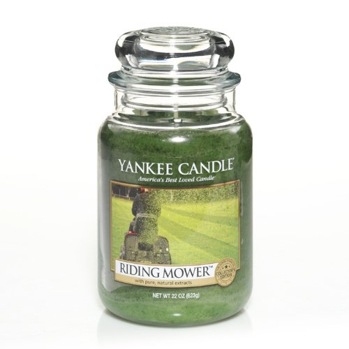 Yankee Candle 22-Ounce Jar Scented Candle, Large, Man Candles Riding Mower