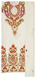 WOW Women's Georgette Unstitched Salwar Suit (White)