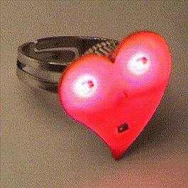 Funky Heart Ring Body Light